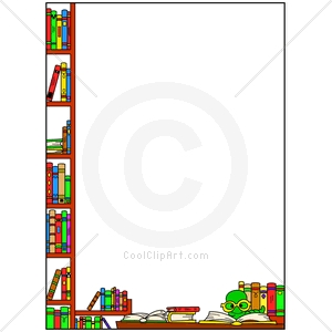 border clip art. Book clipart borders