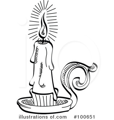 Book clipart candle. Illustration by andy nortnik