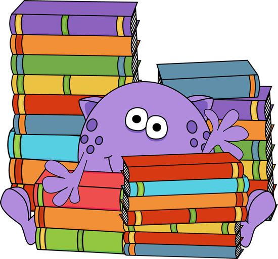 Book clipart cartoon. Monster clip art images