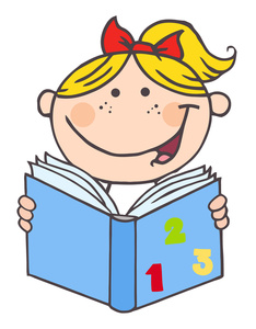 Learning image clip art. Book clipart cartoon