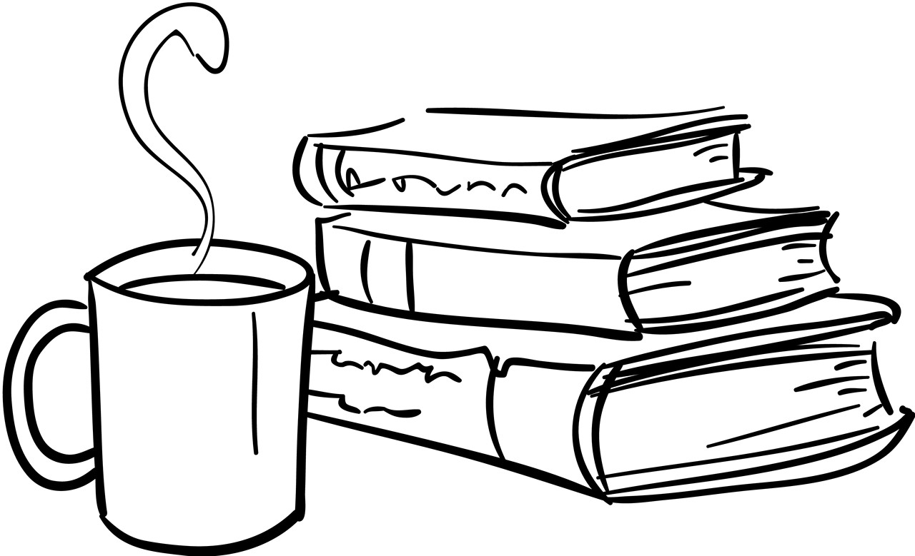 Rockport public library avec. Book clipart coffee