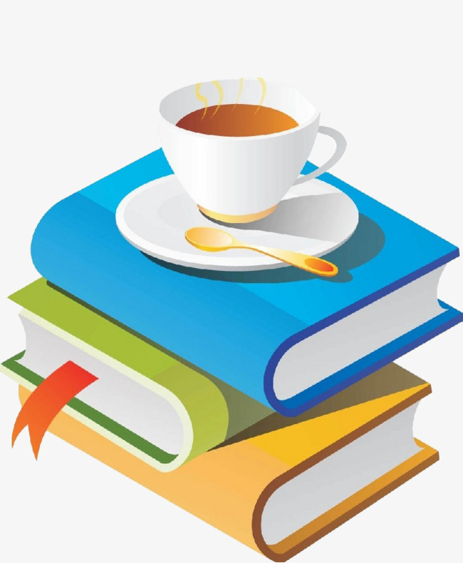 Book clipart coffee. Lifestyle cartoon png image