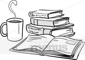 And books cafe. Book clipart coffee