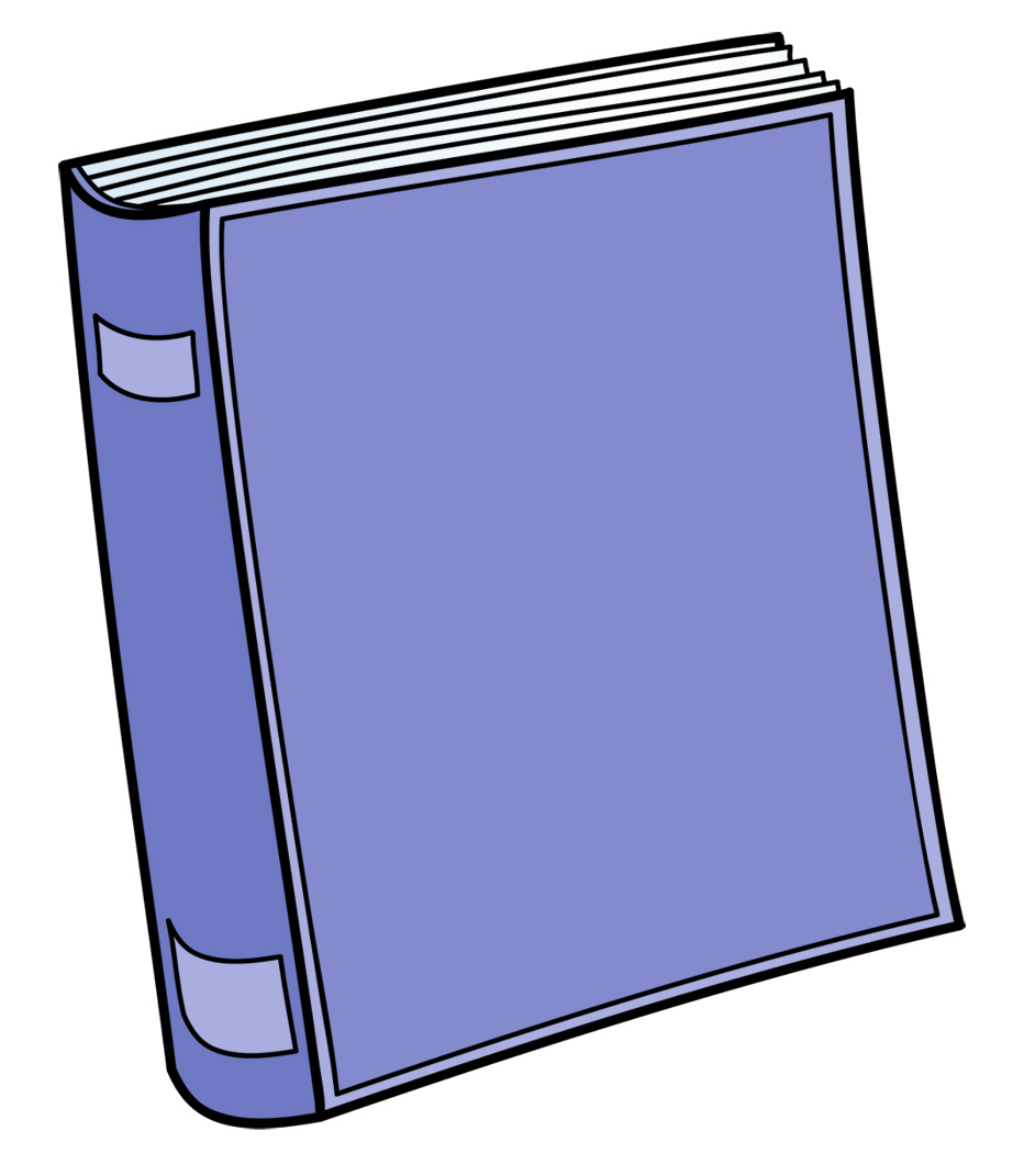Book clip art free. Textbook clipart front cover
