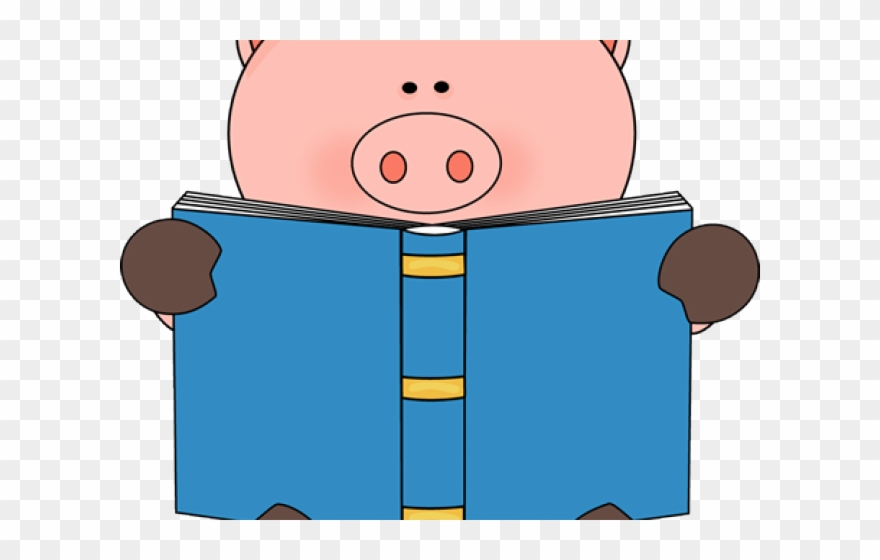 Books clipart cute. Book reading animals png