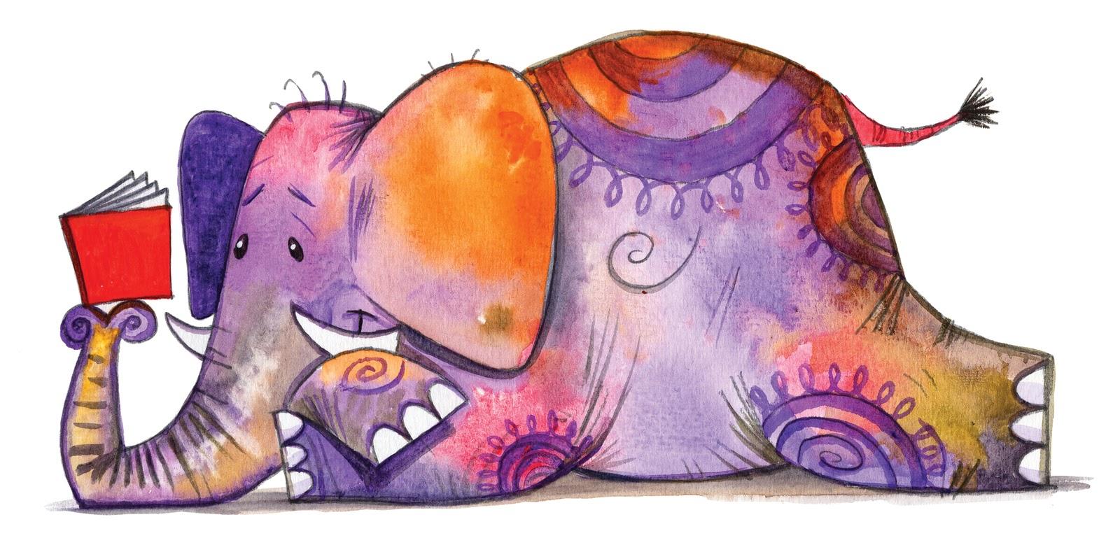 Baked goods clipart cartoon. Image reading elephant jpg