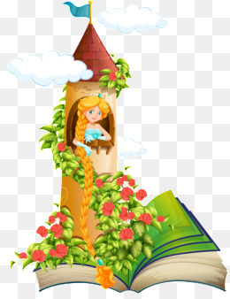 Book of fairy tales. Books clipart fairytale