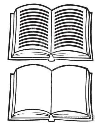 Books clipart folding. Cartoon open book and