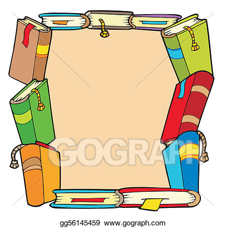 Books clipart frame. Vector from various