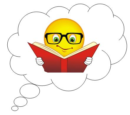 A little knowledge is. Clipart reading student thinking