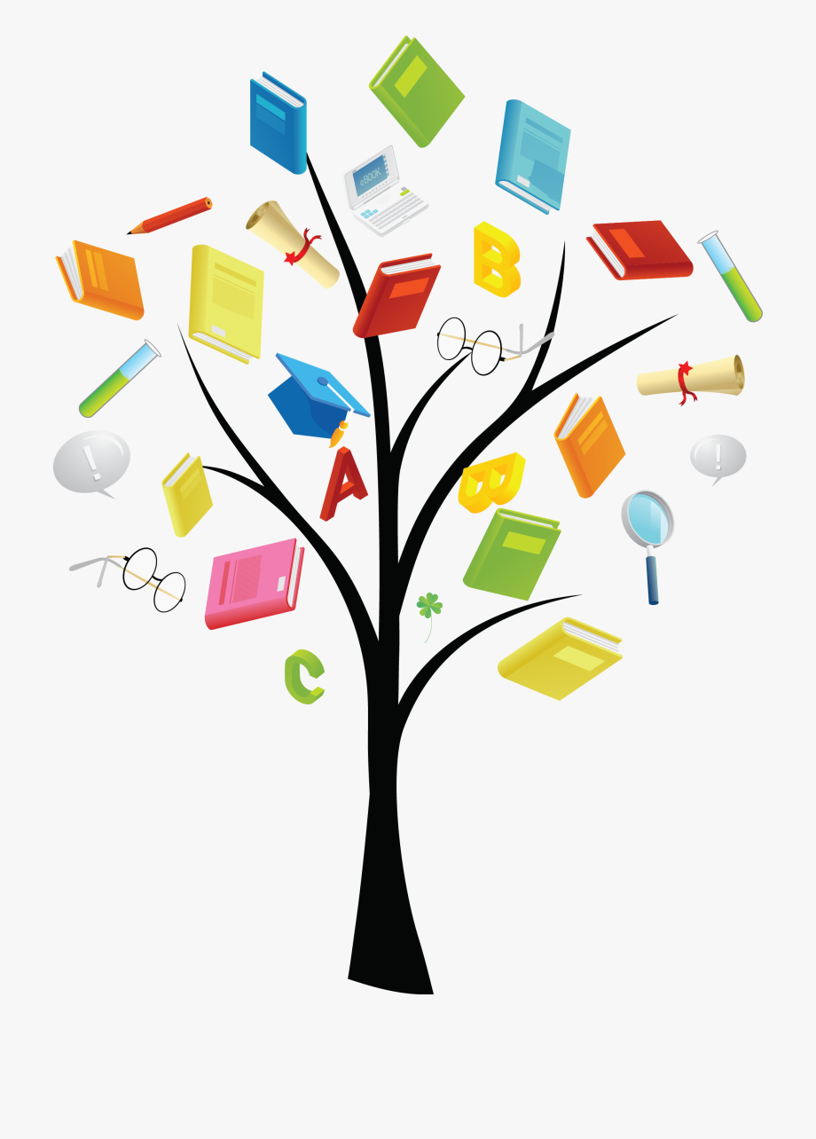 Of books tree hd. Knowledge clipart book