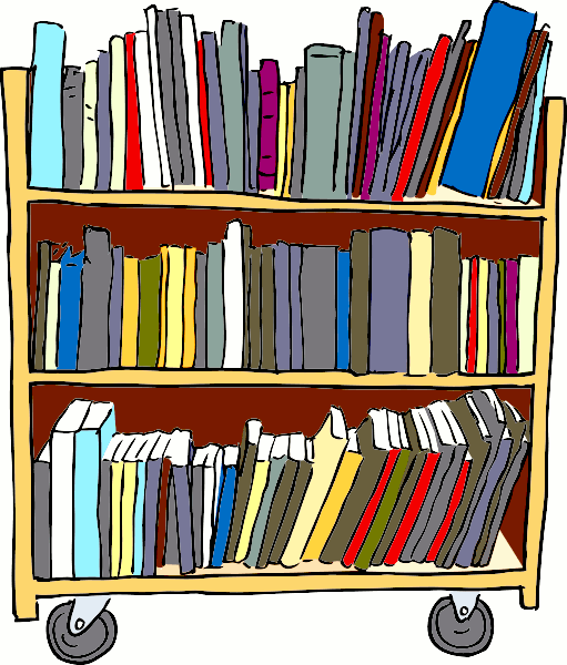 Book cart . Clipart books library