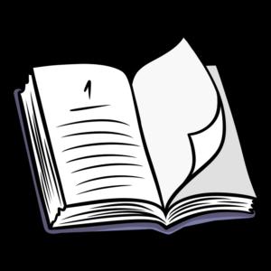 book clipart line