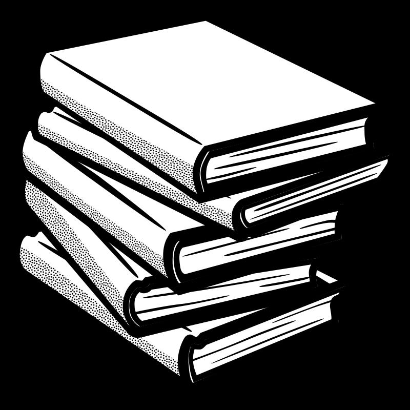 Photo clipart book. Books lineart medium image