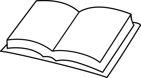 Free art download clip. Book clipart line
