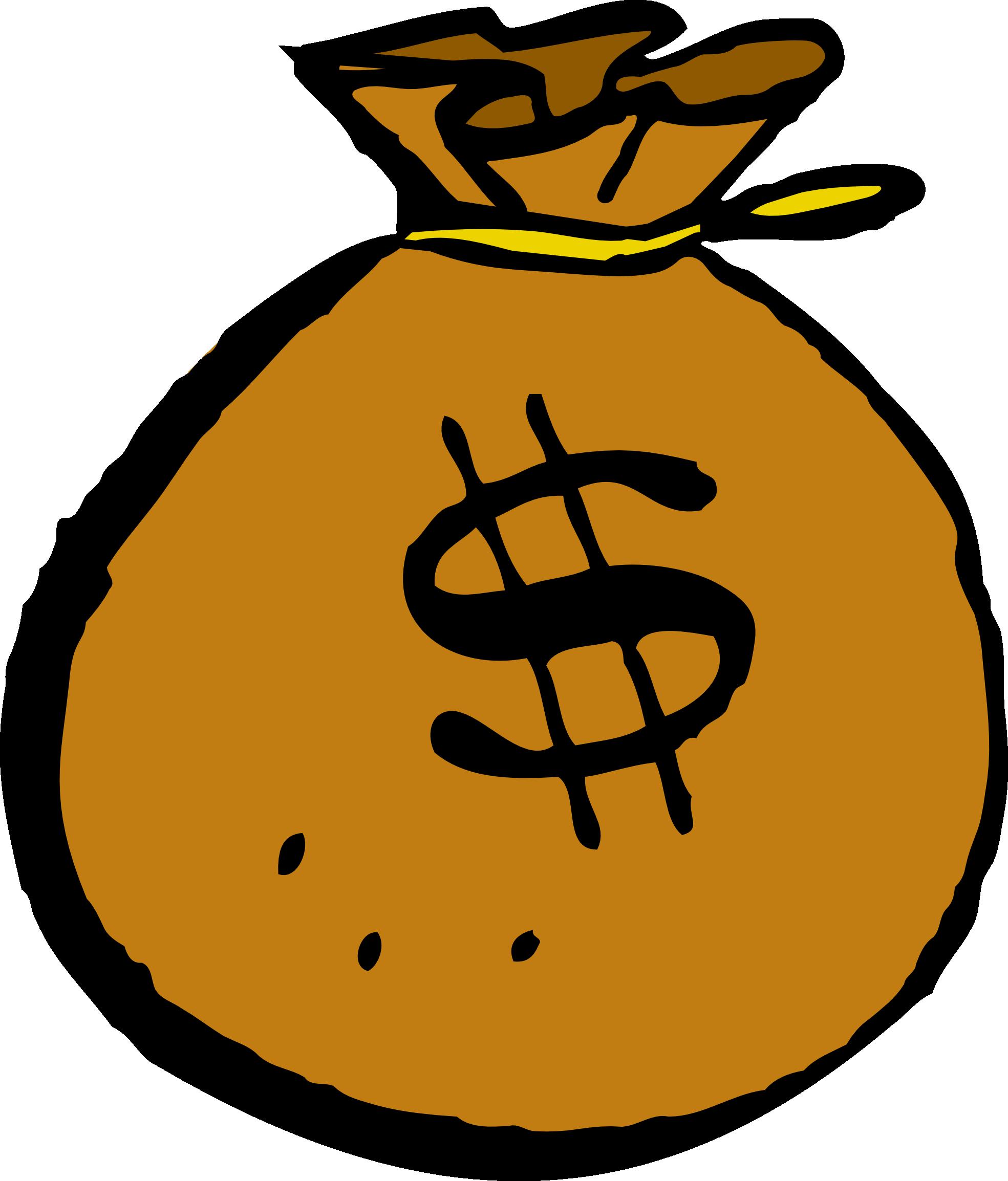 Wallet clipart orange bag. Money panda free images