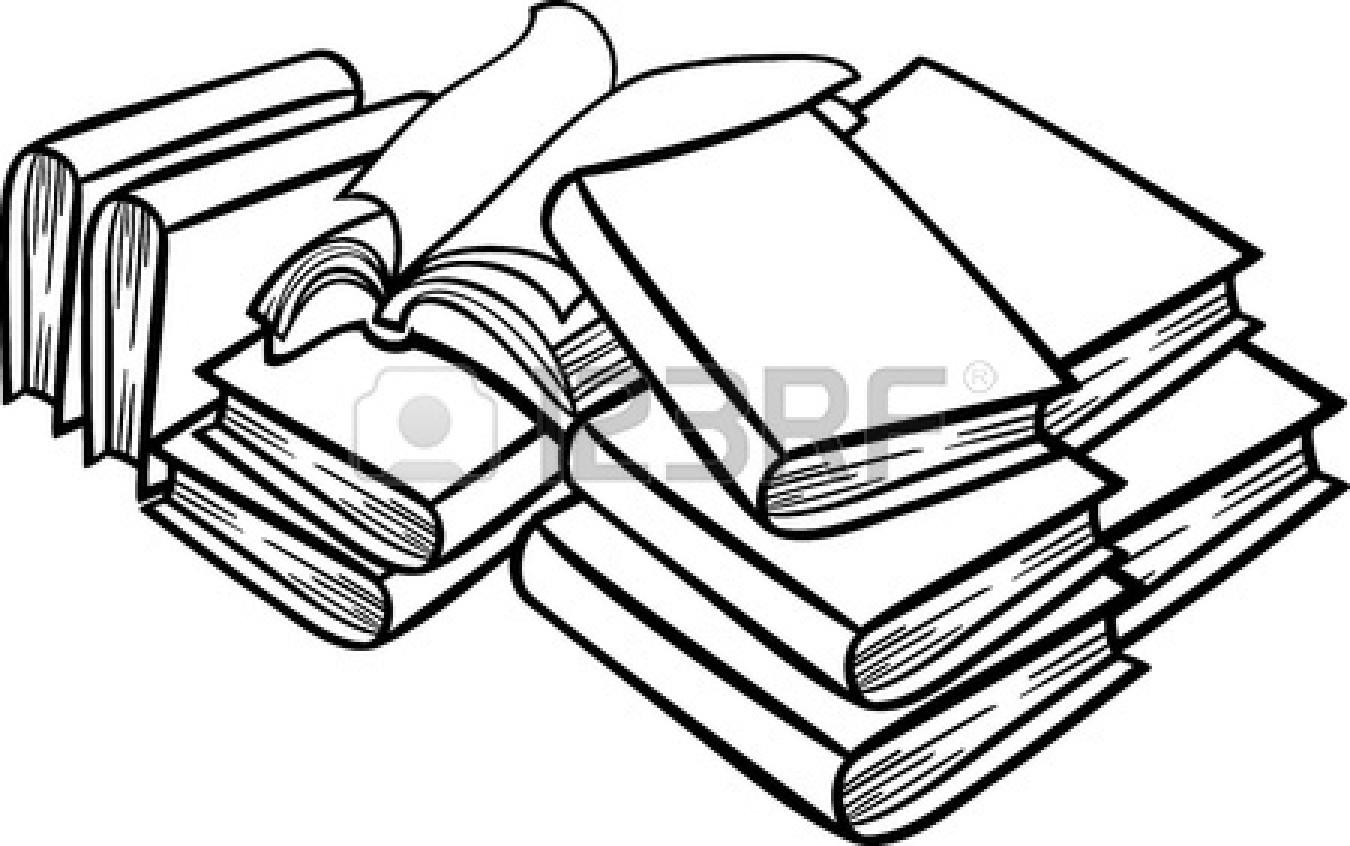 Book clipart money. Pile of books clip