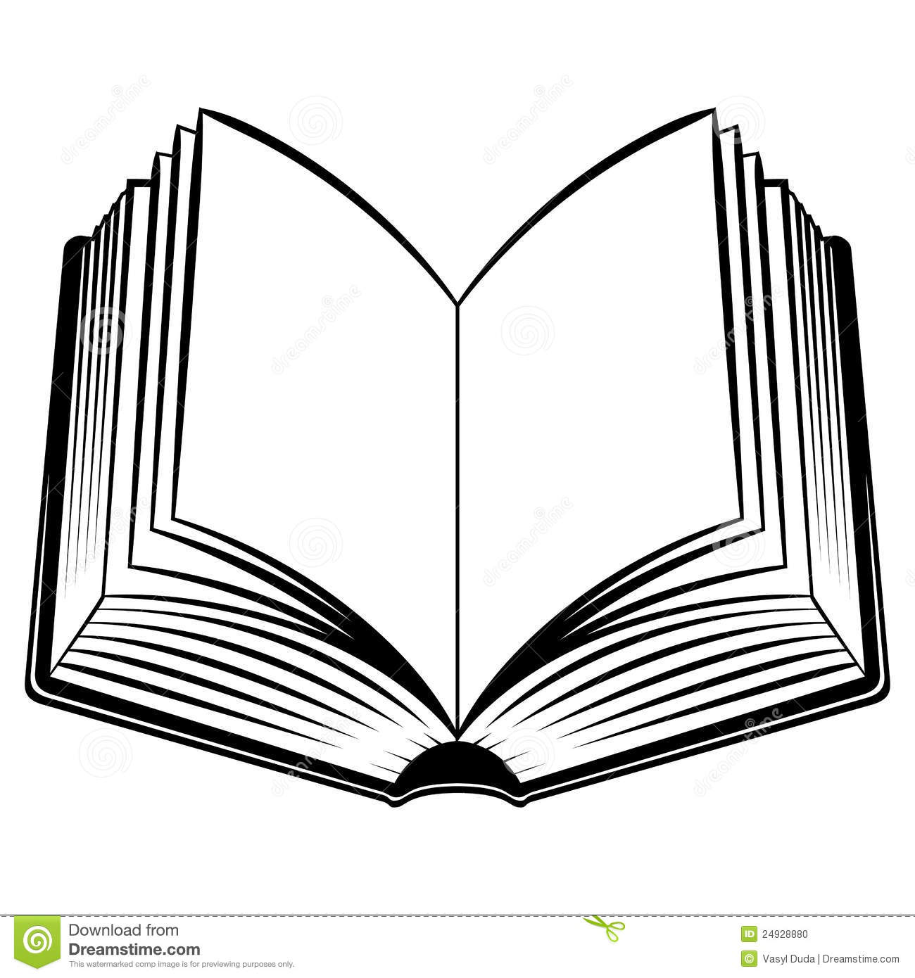 Open book clip art. Books clipart outline