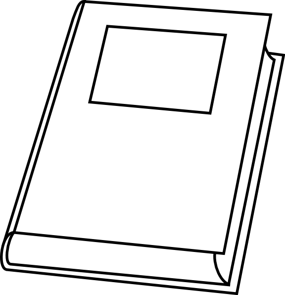 Book clip art at. Clipart telephone outline