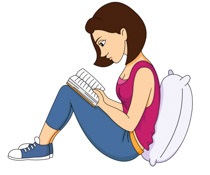 Clipart reading. Free clip art pictures
