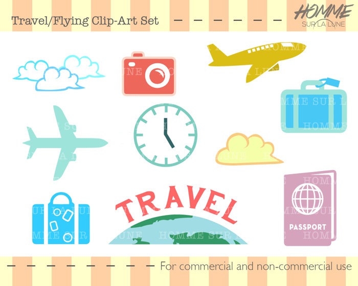 Book clipart scrapbook. Travel icons