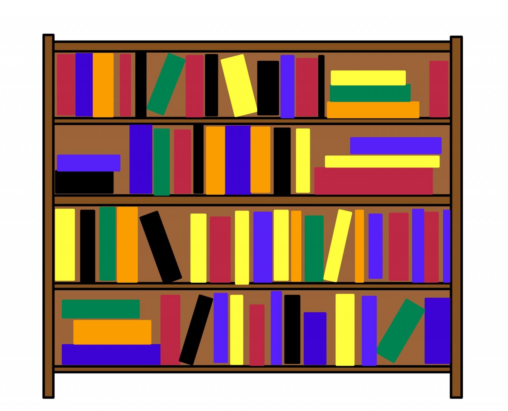 Bookshelf clip art free. Book clipart self
