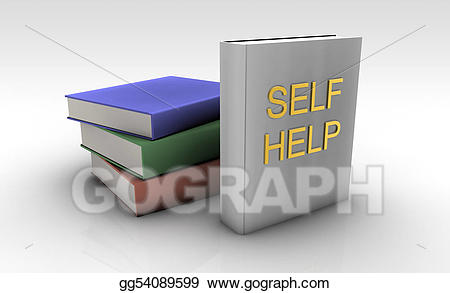 Clipart books self. Drawing help gg gograph