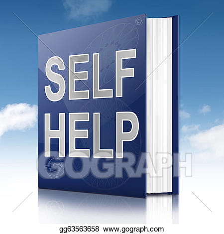Book clipart self. Stock illustration help gg
