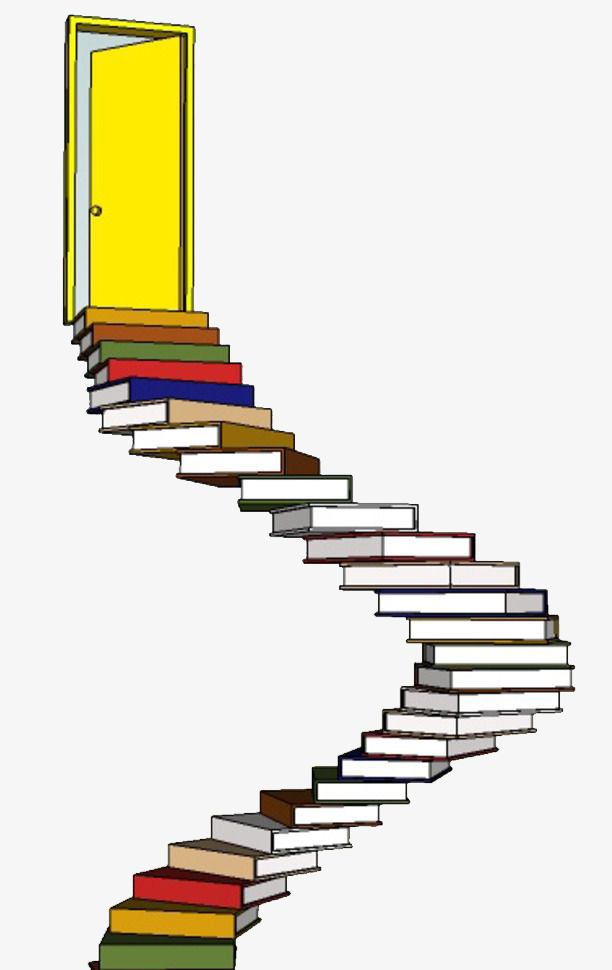 Books clipart simple. Color book ladder learn
