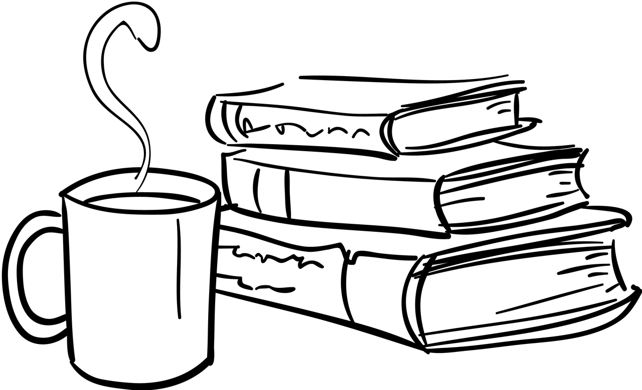 Book line drawing at. Books clipart sketch