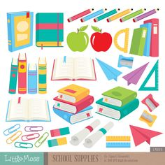 books clipart supply