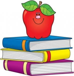 Books clipart teacher. Apple clip art x