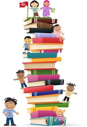 Of library challenge . Books clipart tower