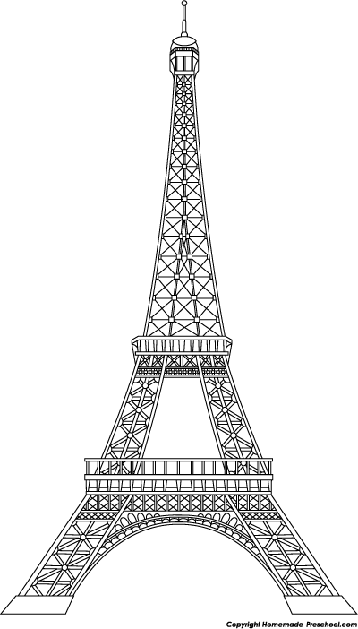 Tower clipart project. Eiffel clip art black
