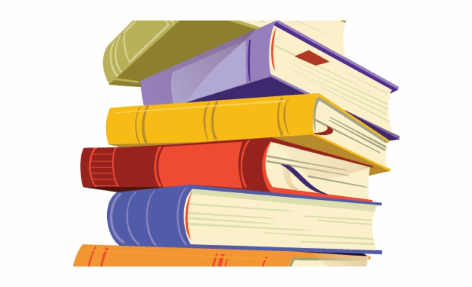 Book stacked . Books clipart transparent background