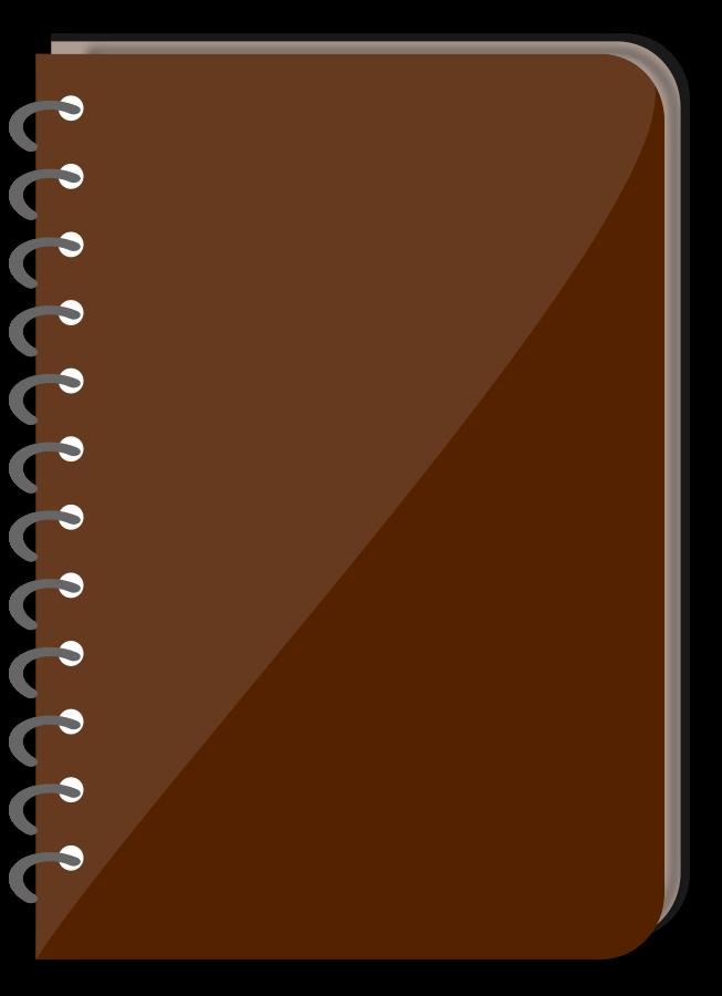 clipart book orange
