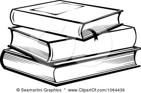 Clip art stack of. Books clipart black and white