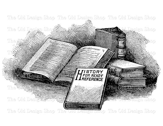 Clip art stack of. Book clipart vintage