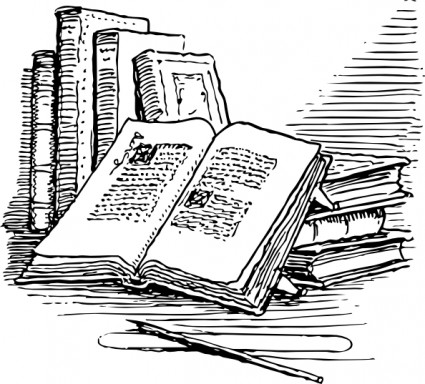 collection of book. Books clipart vintage