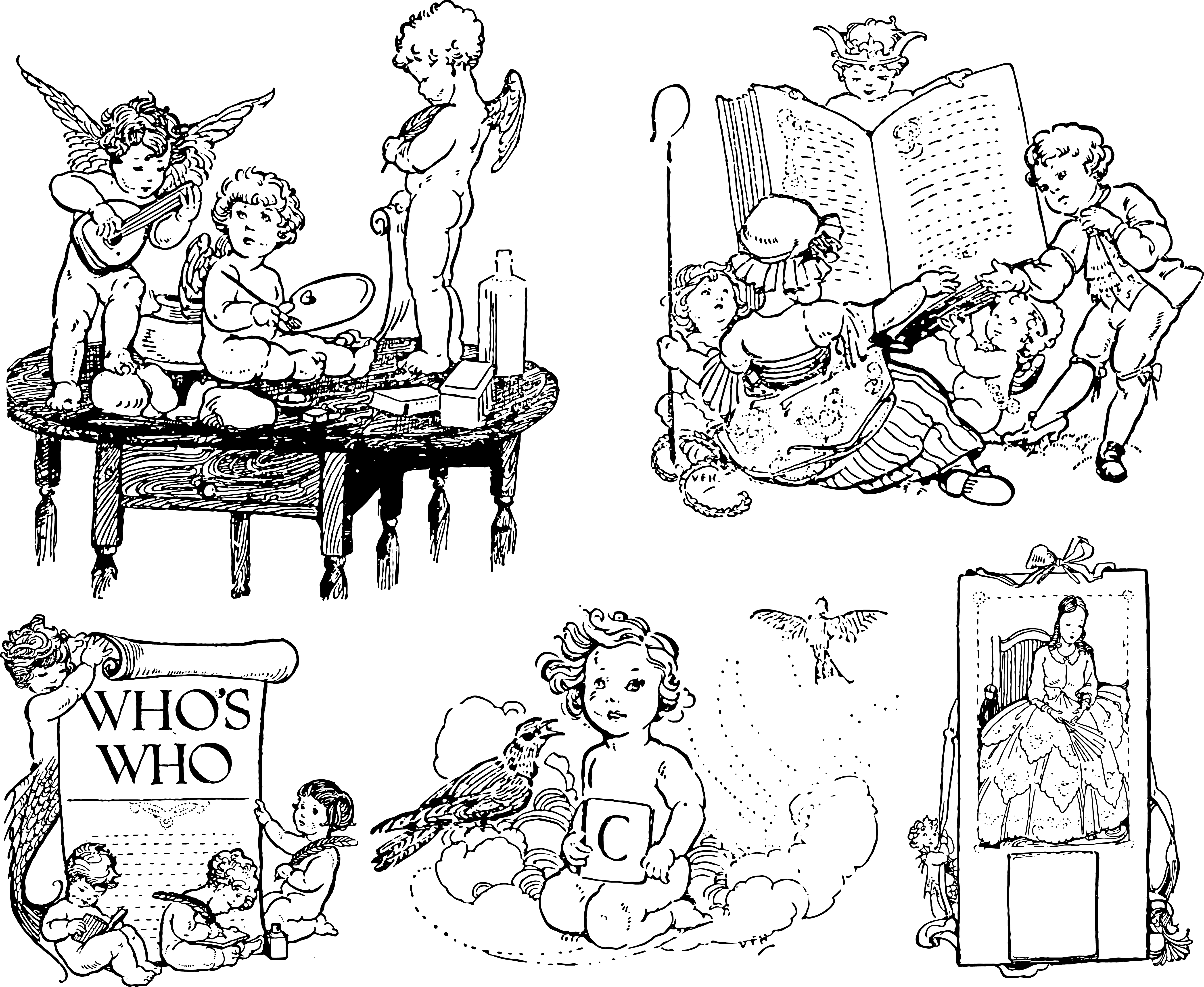 From children s books. Book clipart vintage