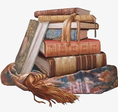 Books clipart vintage. Hand painted book png