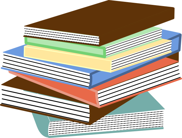 Stack of books clip. Book vector png