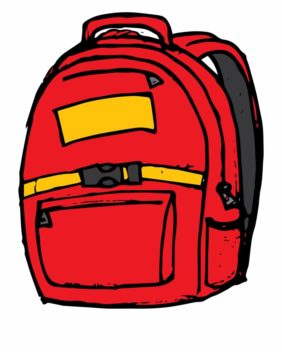 Carson dellosa red clip. Backpack clipart bookbag