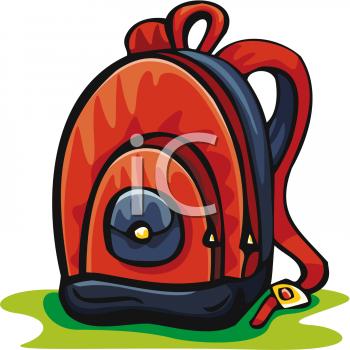 Clip art picture of. Bookbag clipart