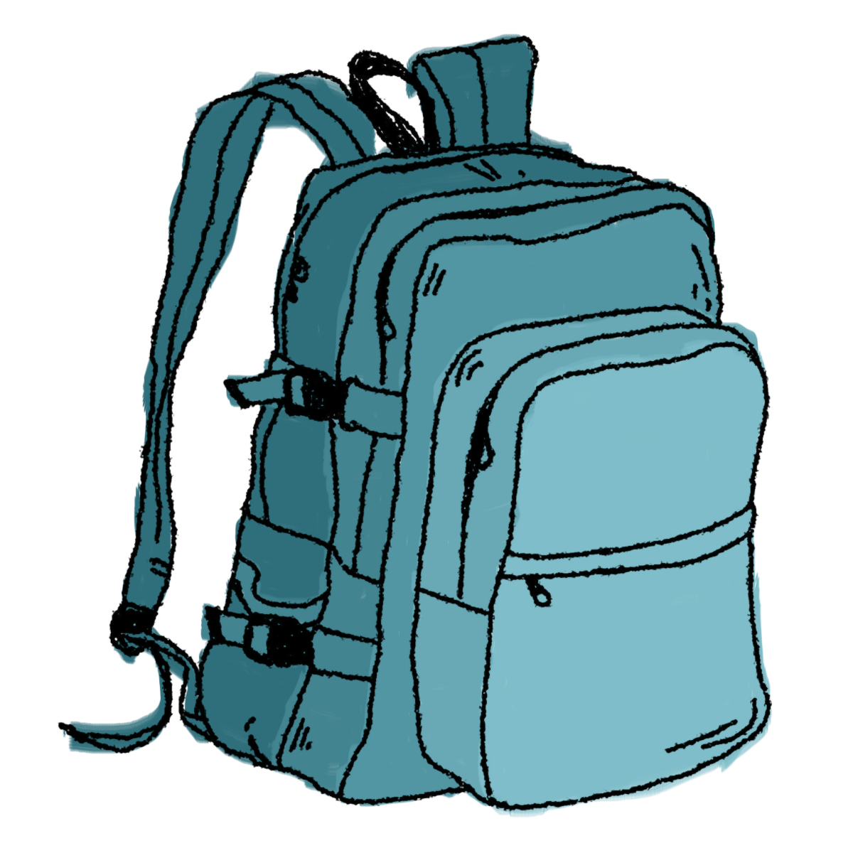 Luggage clipart suitcase handle. Hiking backpack clip art