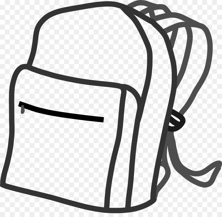 Backpack black and white. Bookbag clipart 3 bag