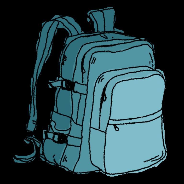 Bookbag clipart 3 bag. Backpacking clip art backpack