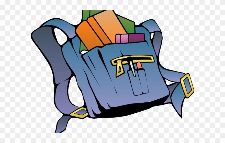 Bookbag clipart animated. Backpack green books in