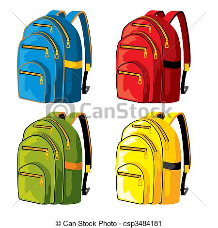 Backpacks panda free . Bookbag clipart backpack