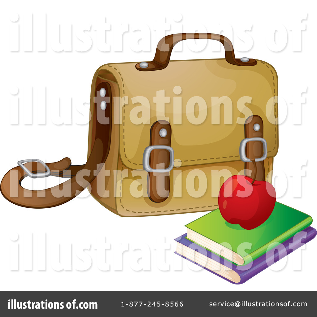 Book by graphics rf. Bag clipart illustration